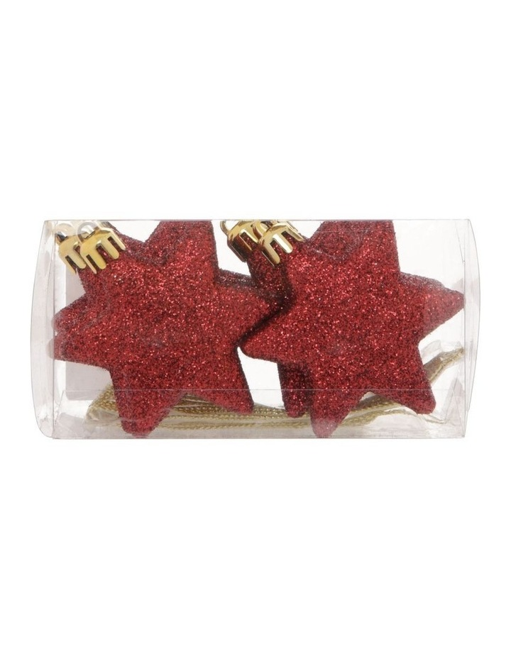 Heirloom 8 Pieces - Red Glitter Star Pack image 1