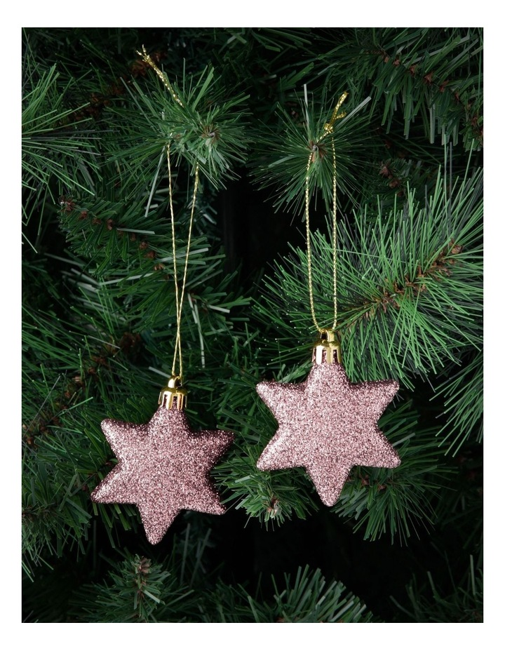 Luxe 8 Pieces - Pale Pink Glitter Star Pack image 3