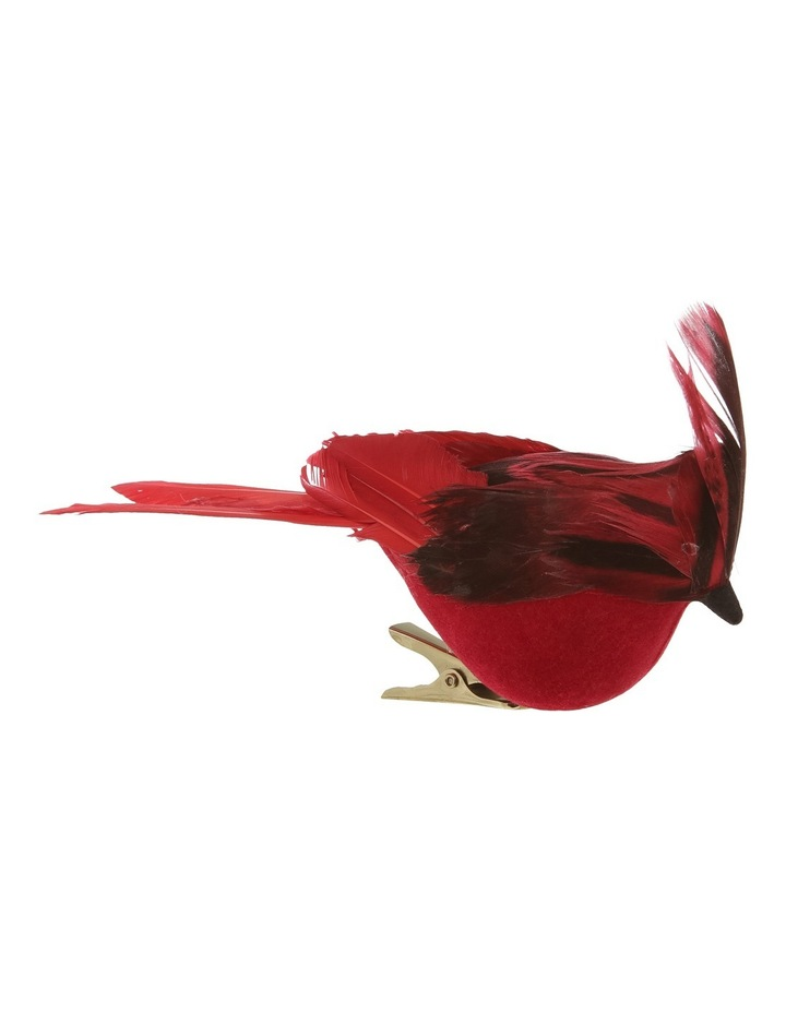 Heirloom Red Plastic Cardinal Bird with Feather Tail image 1
