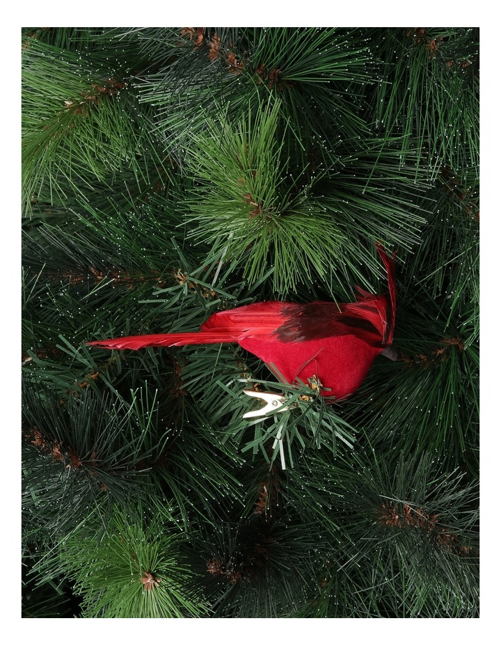Heirloom Red Plastic Cardinal Bird with Feather Tail image 2