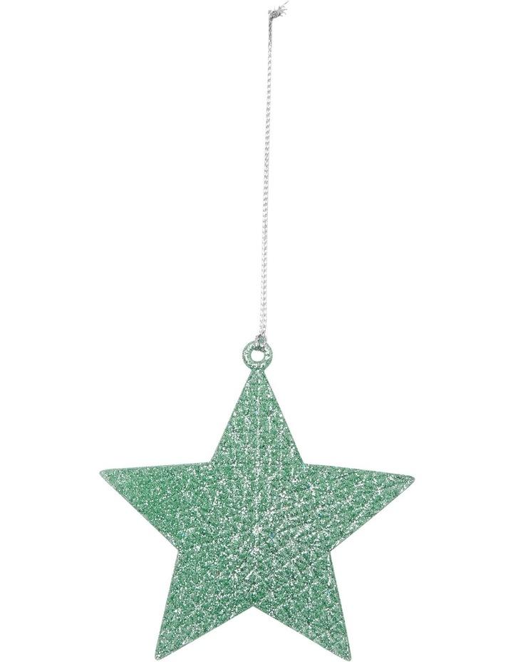 Eucalyptus Cameo Green Glitter Star image 1