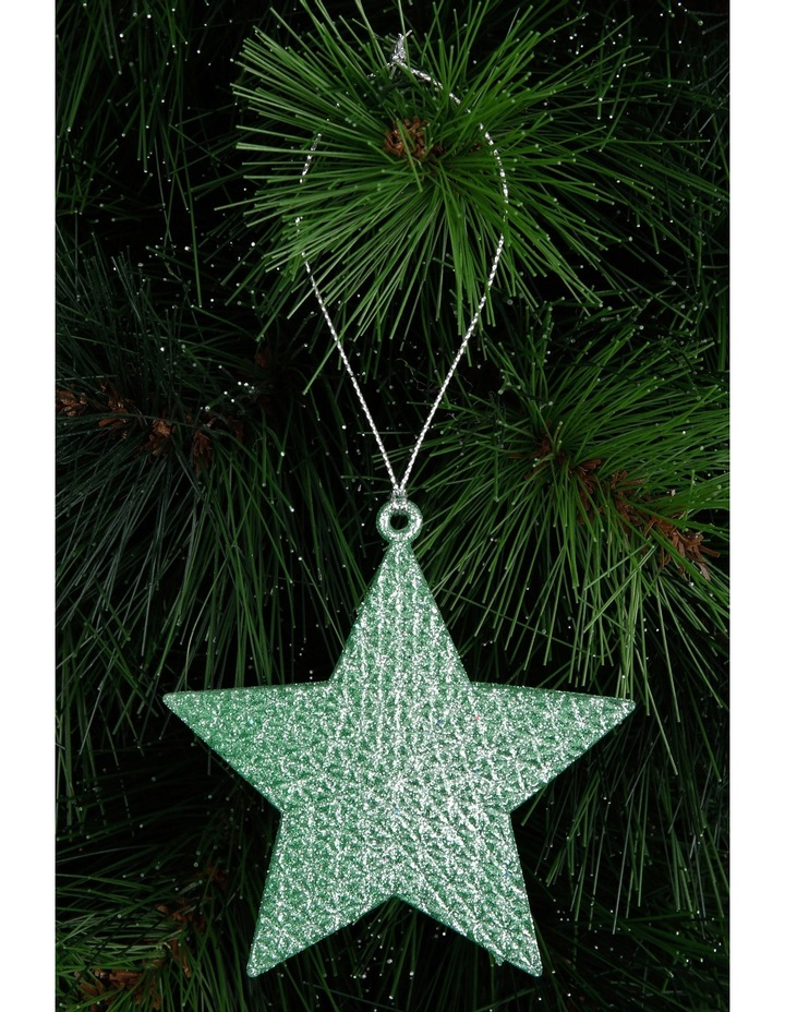 Eucalyptus Cameo Green Glitter Star image 3