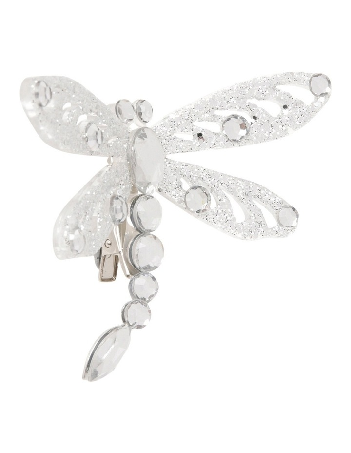 Luxe Silver Dragonfly On Clip image 2
