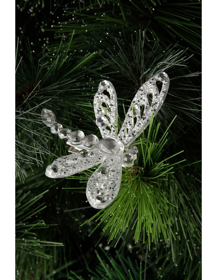 Luxe Silver Dragonfly On Clip image 3