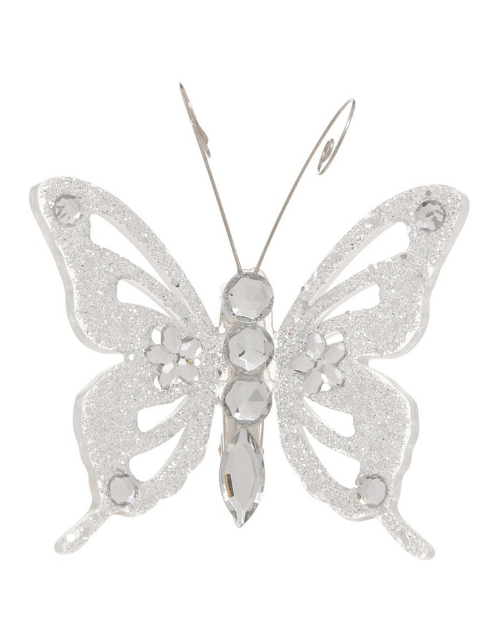 Luxe Silver Butterfly On Clip image 1