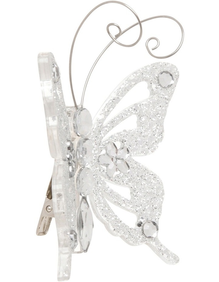 Luxe Silver Butterfly On Clip image 2