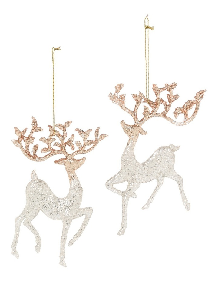 Luxe Silver Glitter Reindeer Assorted image 1