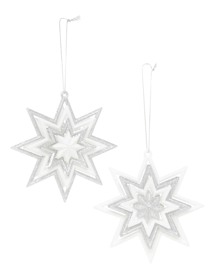 Luxe Silver And White Glitter Star Assorted image 1