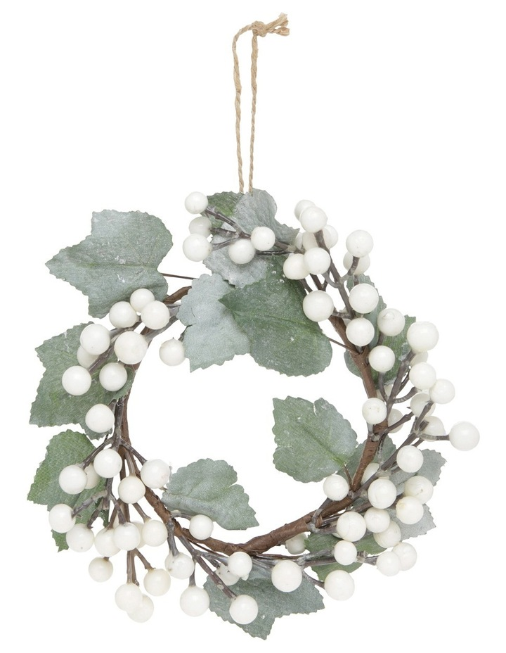 Eucalyptus White Berry Wreath With Plastic Foliage image 1