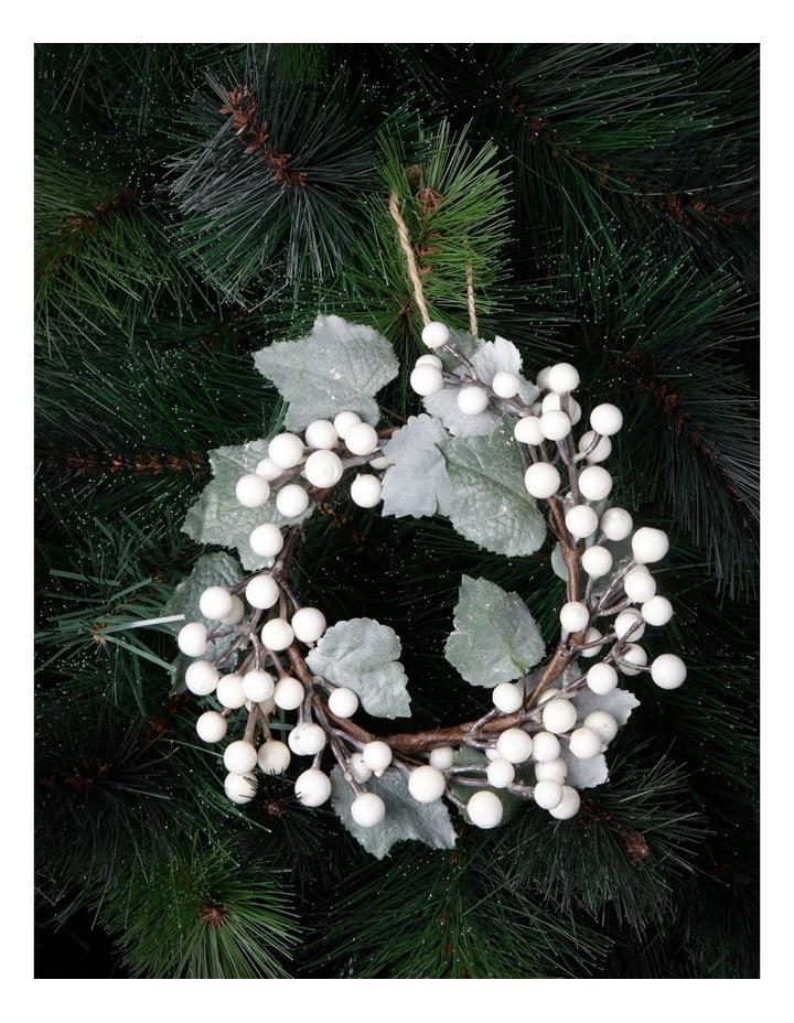 Eucalyptus White Berry Wreath With Plastic Foliage image 2