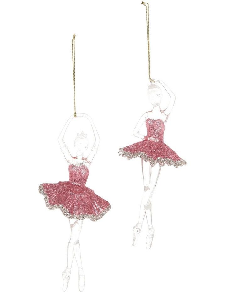 Luxe Pink Plastic Glitter Ballerina Wearing Glitter Pink Tutu Assorted image 1