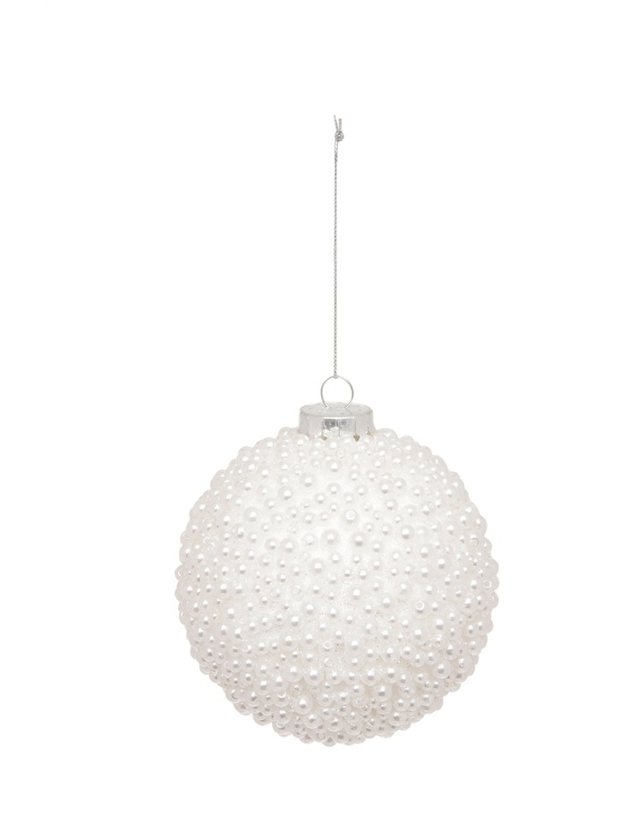 Luxe White Pearl Bauble image 1