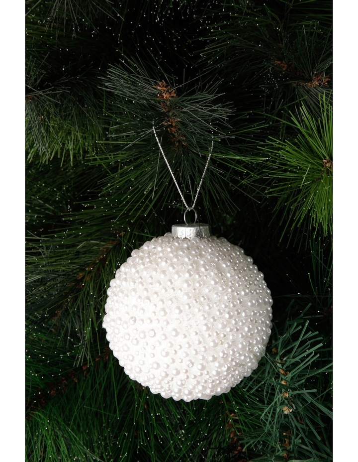 Luxe White Pearl Bauble image 2
