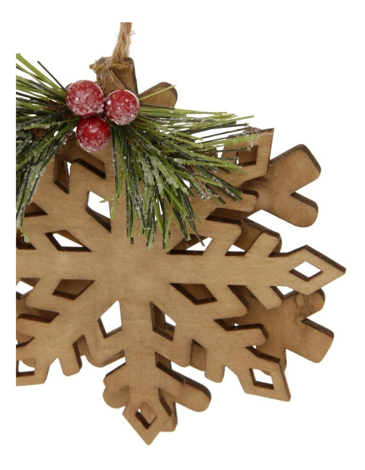 Eucalyptus MDF Snowflake With Red Berry image 2