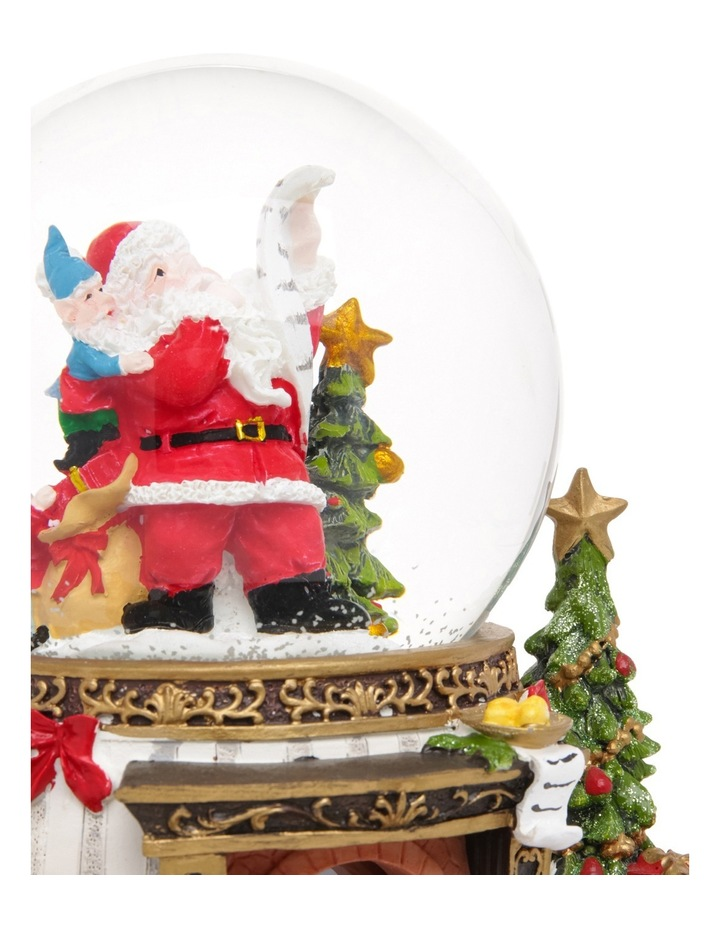 Heirloom 18cm Led Resin Santa Decorative Base Musical Globe image 4