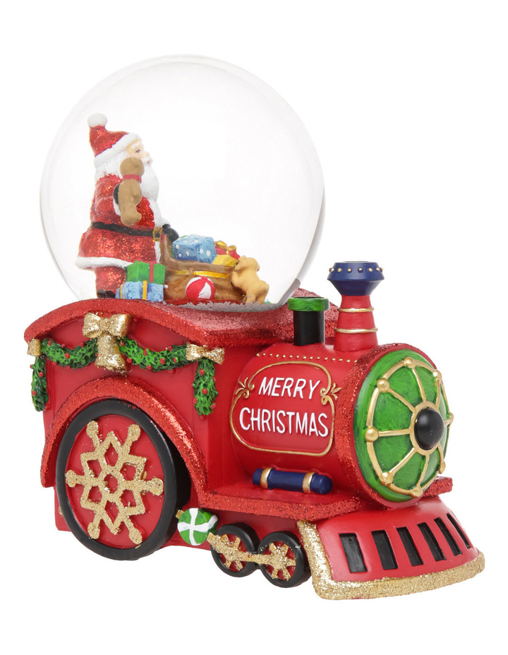 Merry And Bright 100m Red Santa Presents Wind Up Music Train Globe image 2