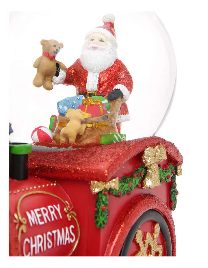 Merry And Bright 100m Red Santa Presents Wind Up Music Train Globe image 4