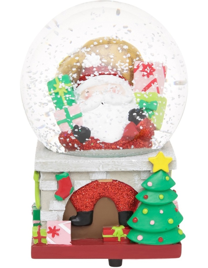 Merry And Bright 100mm Santa On Chimney Presents Wind Up Music Globe image 2