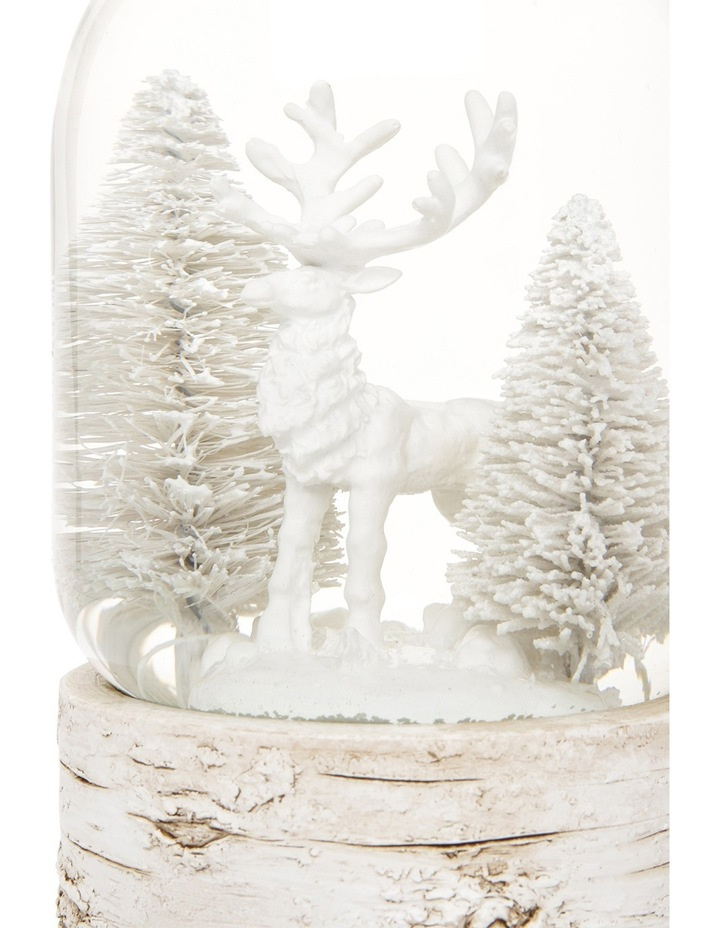 Eucalyptus 100mm Polyresin White Washed Deer with Tree Snow globe image 3