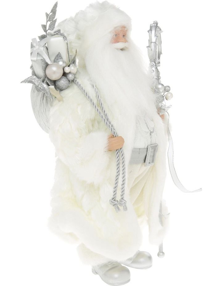 Luxe White And Champagne Santa With Sack And Staff image 2