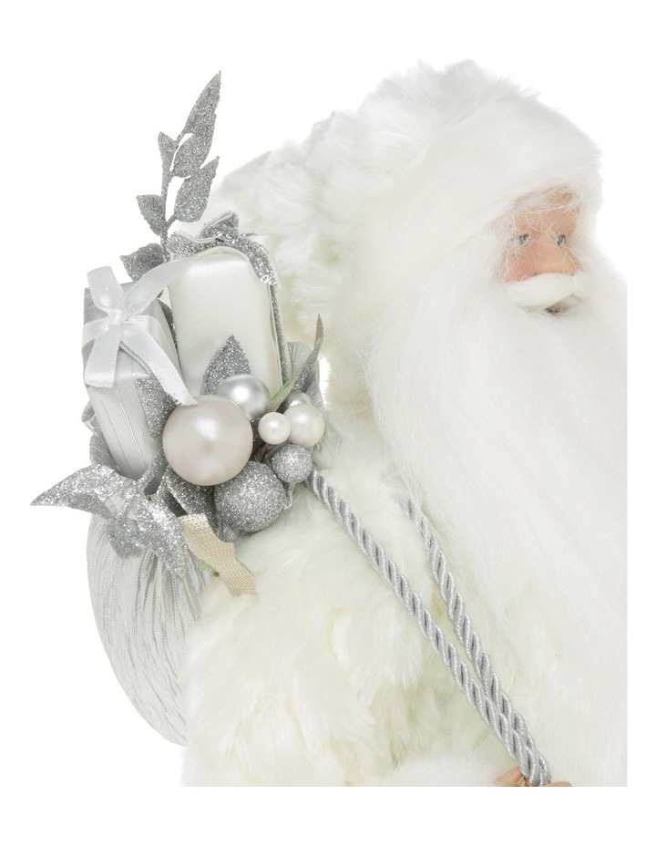Luxe White And Champagne Santa With Sack And Staff image 3