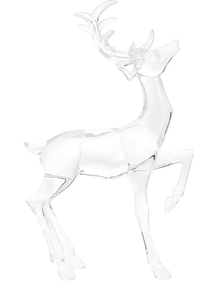 Luxe Clear Acrylic Sitting And Standing Reindeer Assorted image 2