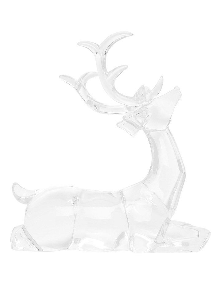 Luxe Clear Acrylic Sitting And Standing Reindeer Assorted image 3
