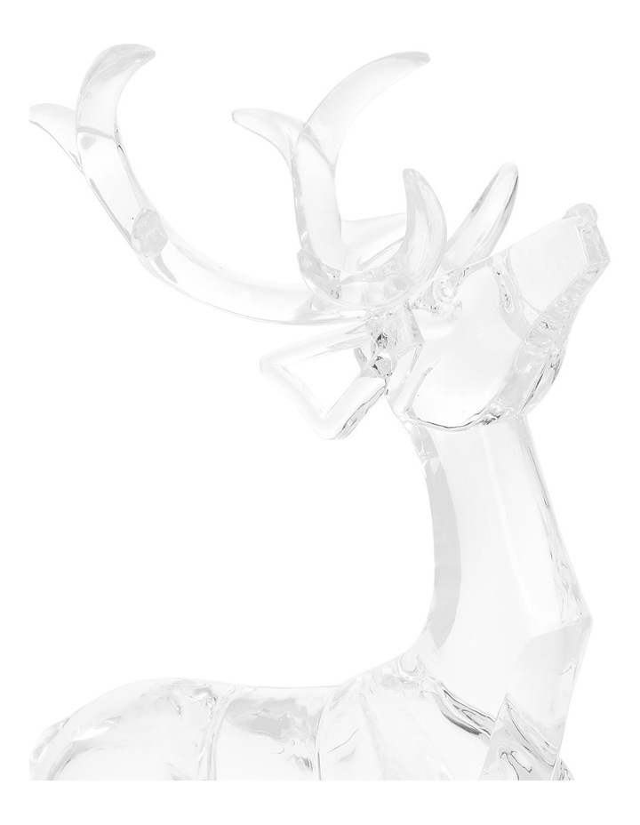 Luxe Clear Acrylic Sitting And Standing Reindeer Assorted image 4