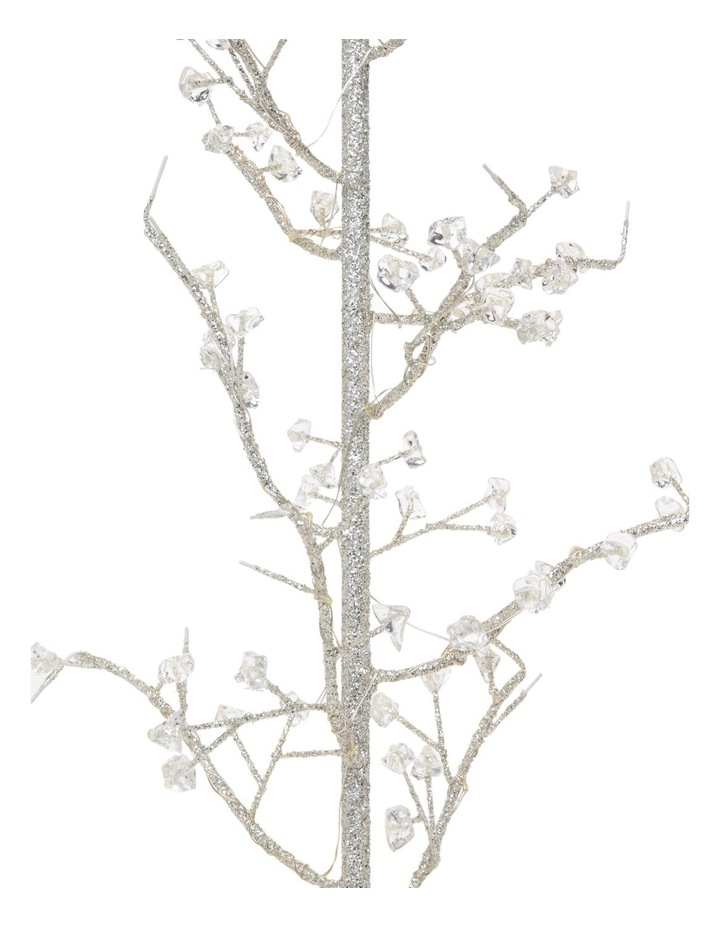 Luxe 75cm Led Light Silver Glittered Wire Tree Decorative Beads image 3