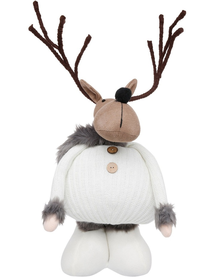 Eucalyptus Brown Reindeer Wearing Knitted White Jumper image 1