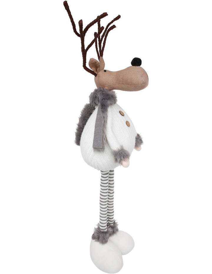 Eucalyptus Brown Reindeer Wearing Knitted White Jumper image 2