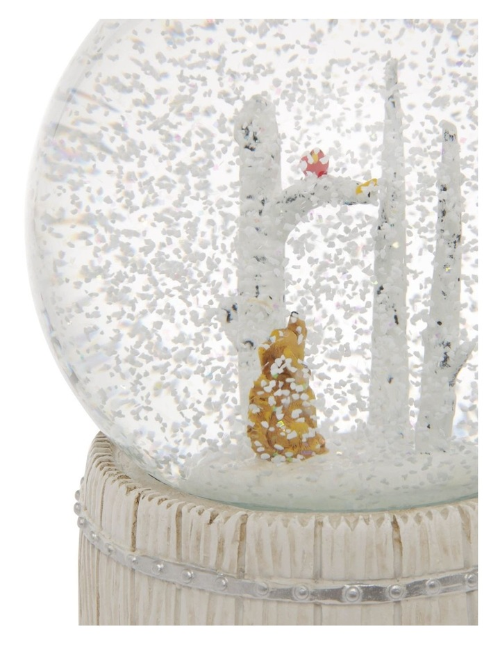Eucalyptus Tree and Dog With Wind Up Music Snowglobe image 2