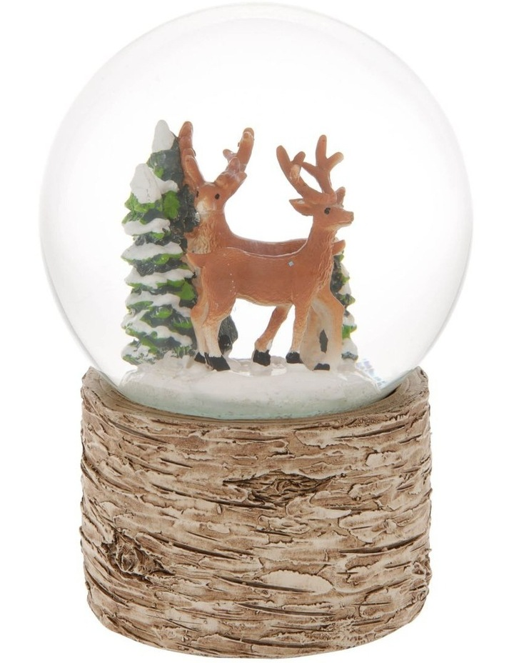 Eucalyptus Musical Snowglobe With Reindeers and Trees image 1