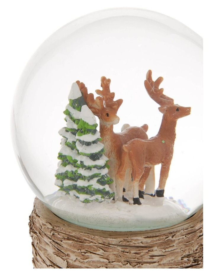 Eucalyptus Musical Snowglobe With Reindeers and Trees image 2