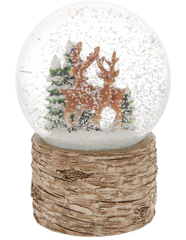 Eucalyptus Musical Snowglobe With Reindeers and Trees image 3