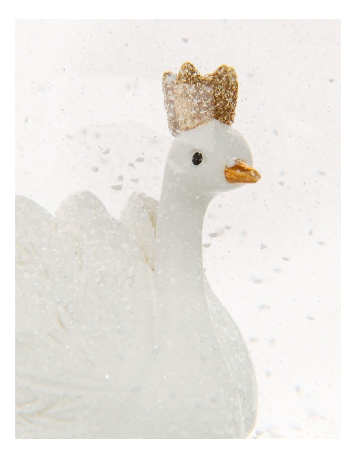 Luxe White Polyresin Swan Snowglobe image 4