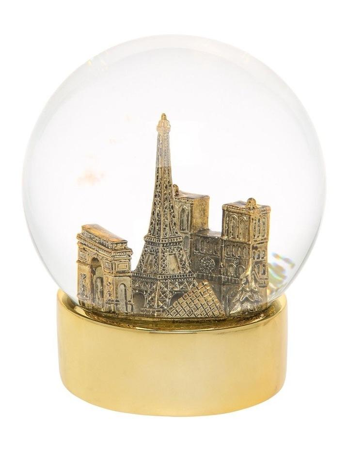 Luxe Paris Gold Snowglobe image 1