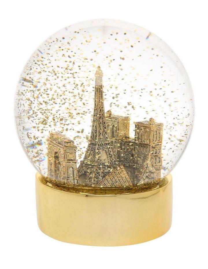 Luxe Paris Gold Snowglobe image 2