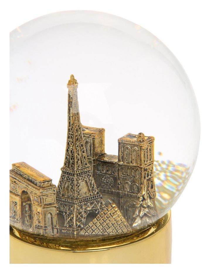 Luxe Paris Gold Snowglobe image 3
