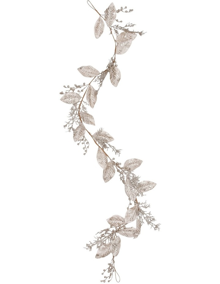 Luxe Pale Champagne Plastic Magnolis Leaf Garland image 1