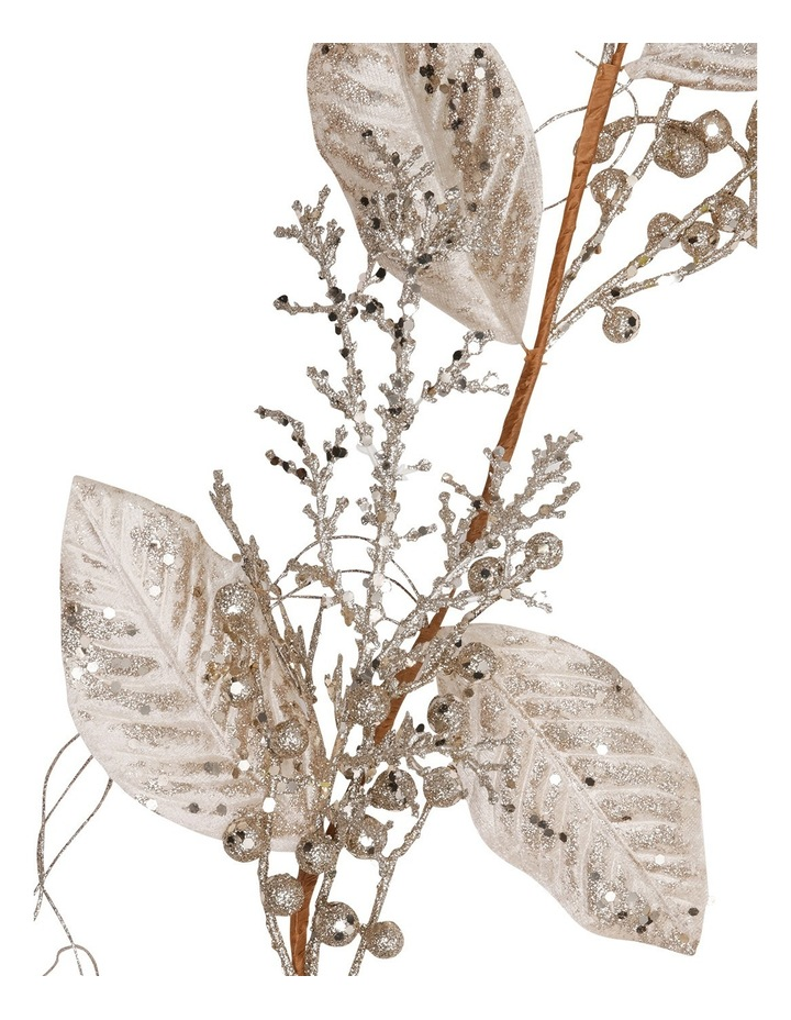 Luxe Pale Champagne Plastic Magnolis Leaf Garland image 2