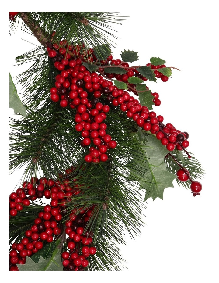 Heirloom 168cm Traditional Leaves Red Berries Garland image 2