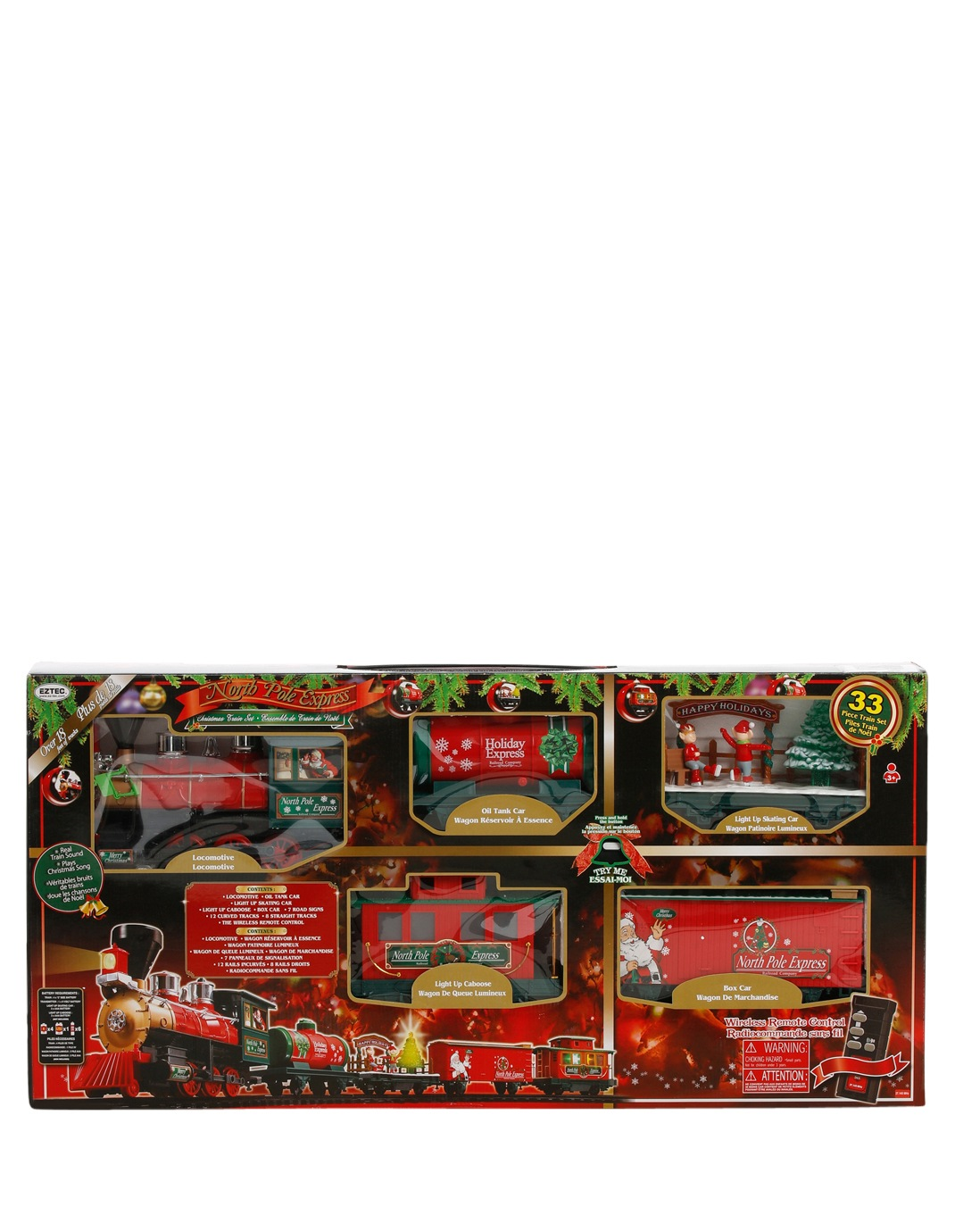 Vue | Remote Control North Pole Express Christmas Train Set | Myer ...