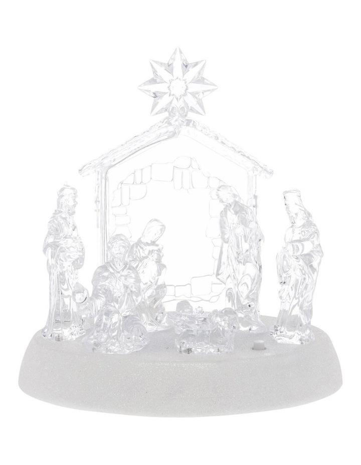 Luxe Nativity Scene With Battery Operated LED image 1