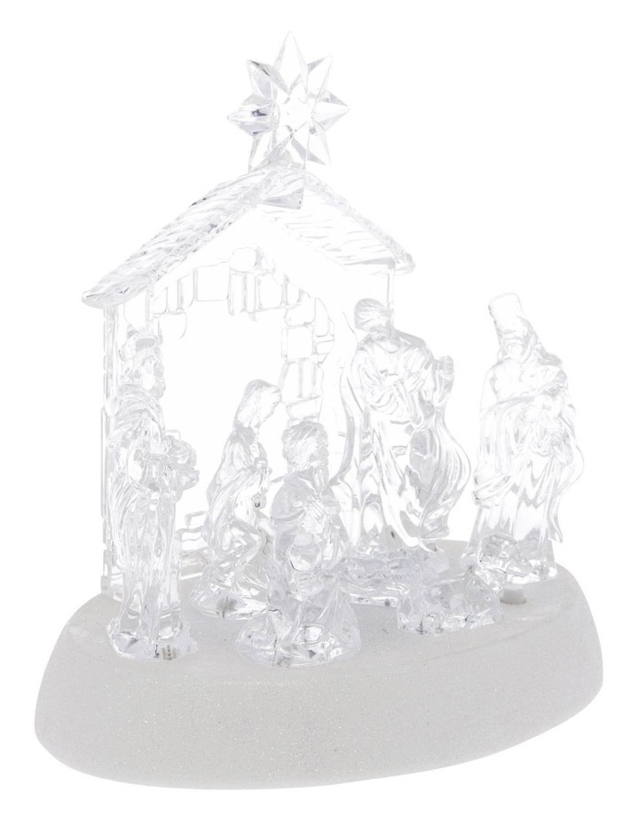 Luxe Nativity Scene With Battery Operated LED image 2