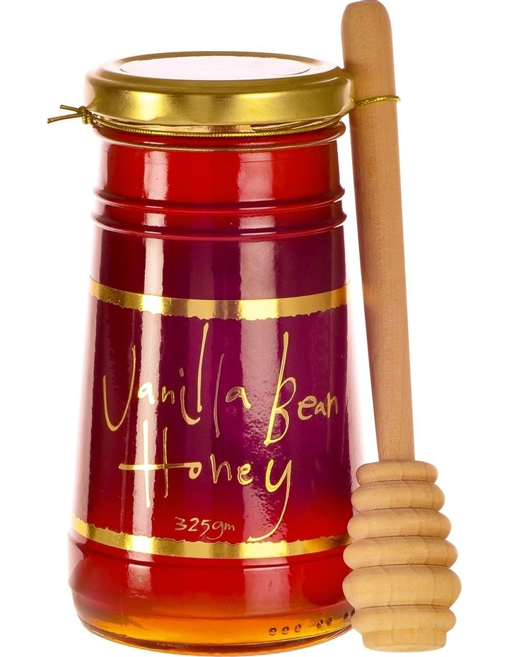 Vanilla Bean Honey  with wooden dipper 325g image 1