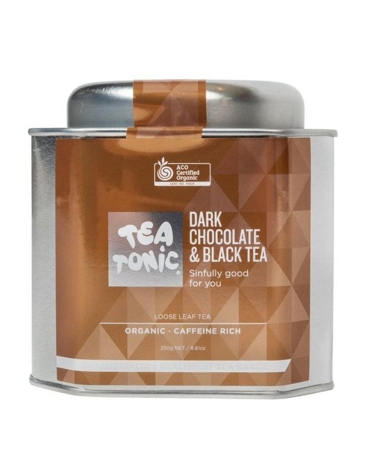 Dark Chocolate And Black Loose Leaf Tea Tin image 1