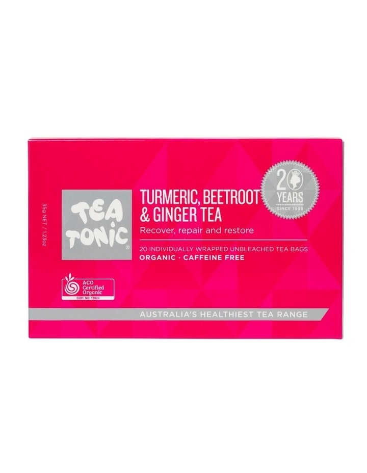 Tumeric, Beetroot And Ginger Tea Box - 20 Teabags image 1
