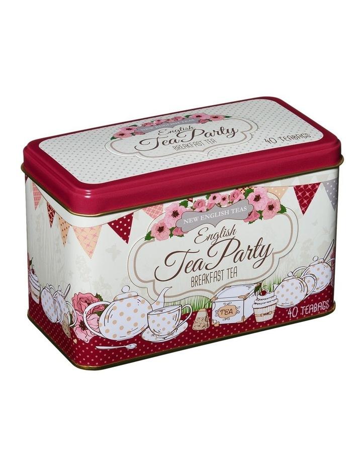 New English Teas Tea Party Pink Tin 80G image 1