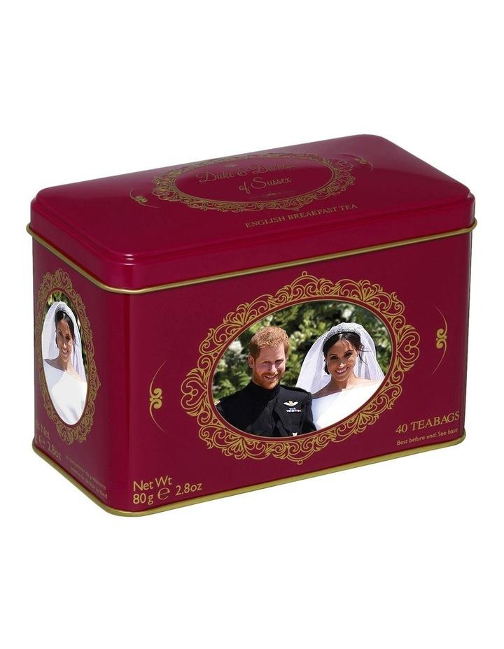 New English Teas Duke And Duchess Of Sussex Wedding Tin 80G image 1